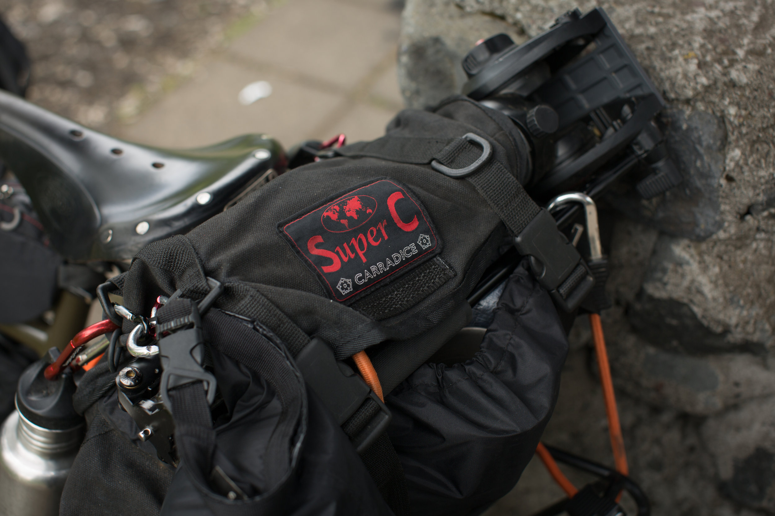 The Carradice Longflap Camper was the first bike touring bag I ever bought and remains one of my favourites. However, I decided to opt for the slightly smaller   Super C   for Iceland and it didn't disappoint.There's definitely pros/cons, but ultimately it's another bomb proof bag that's perfect for bikepacking.