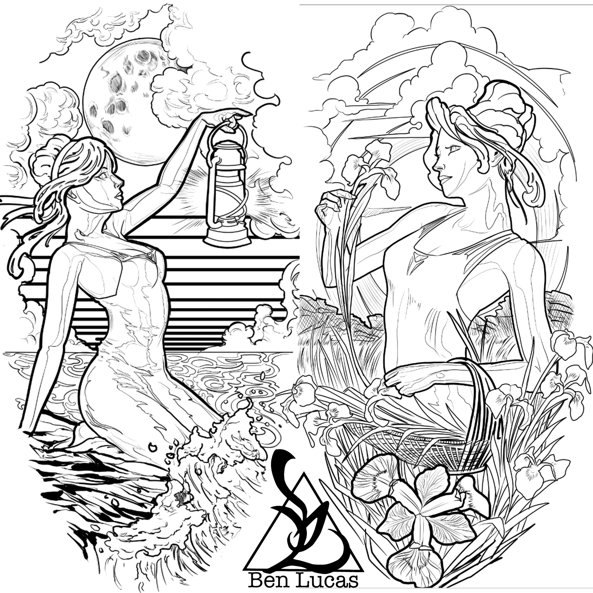Today I am starting these two forearm tattoos on a new client. I will just be doing the lifework at first, but I will try to show the work in progress. I personally think that these would make better full sleeves, but we as tattoo artist are limited by the commission work that we are assigned. Alas, we just have to make do, and do the best we can everyday.