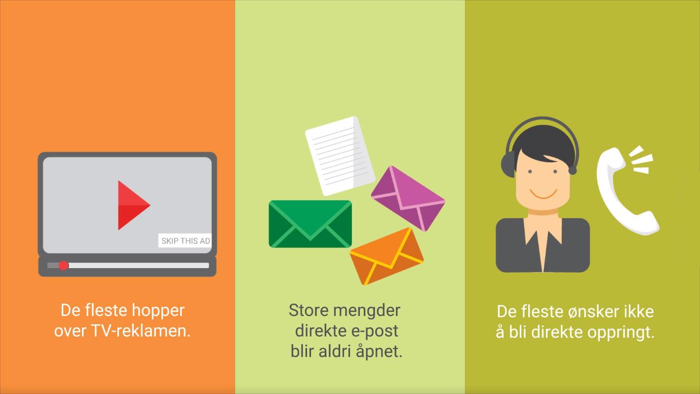 Liker du avbrytende reklame som telefonselgere og uønsket e-post? -