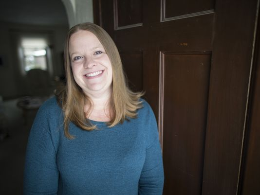 Billie Mays, organizer of local Cincinnati Women's March, poses at a friend's home in Cincinnati on Friday, Jan. 6, 2017. The local march, one of about 200 in cities across the nation, has collected more than 650 RSVPs and many more expressing interest via Facebook.(Photo: Sam Greene/The Enquirer)