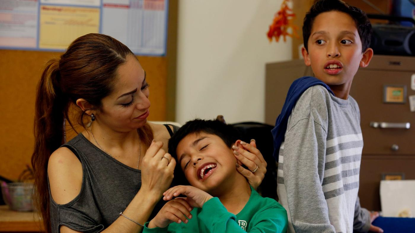 Liliana Sanchez de Saldivar, shown last week with her sons Jesus, 6, and Pablo, 10, lived at a Simi Valley church for three years to avoid deportation. (Francine Orr / Los Angeles Times) (Francine Orr / Los Angeles Times)