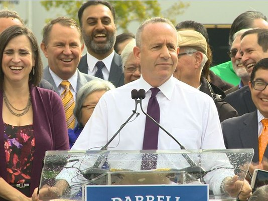 Darrell Steinberg announces run for Sacramento mayor. (Photo: ABC10)