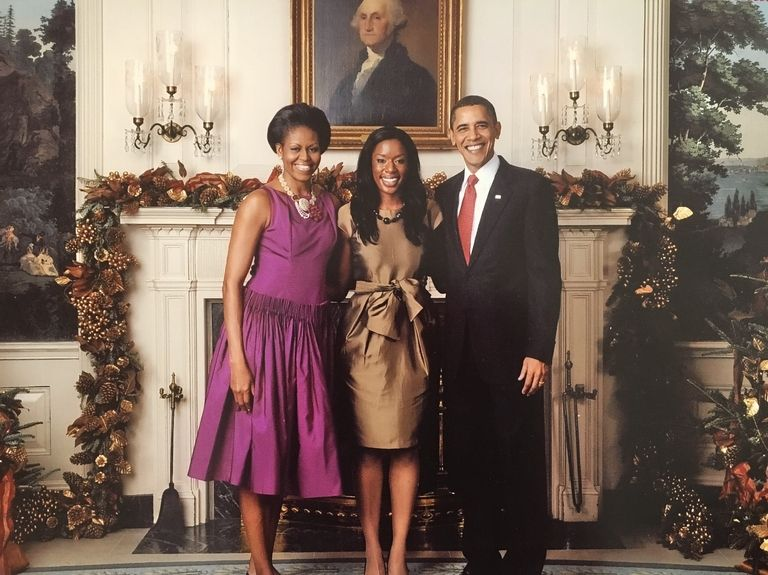 "Goodwin was invited to the White House Holiday party in 2009. ""I was so nervous and honored at the same time. "" White House Official Photo"