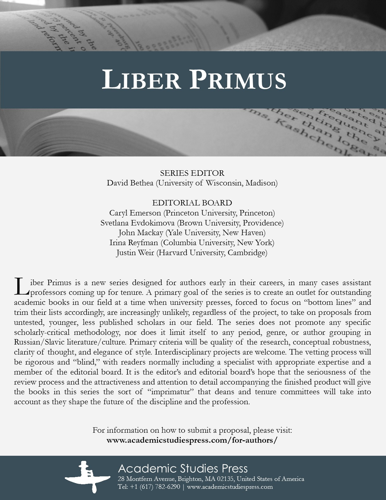 Liber Primus Series Flyer