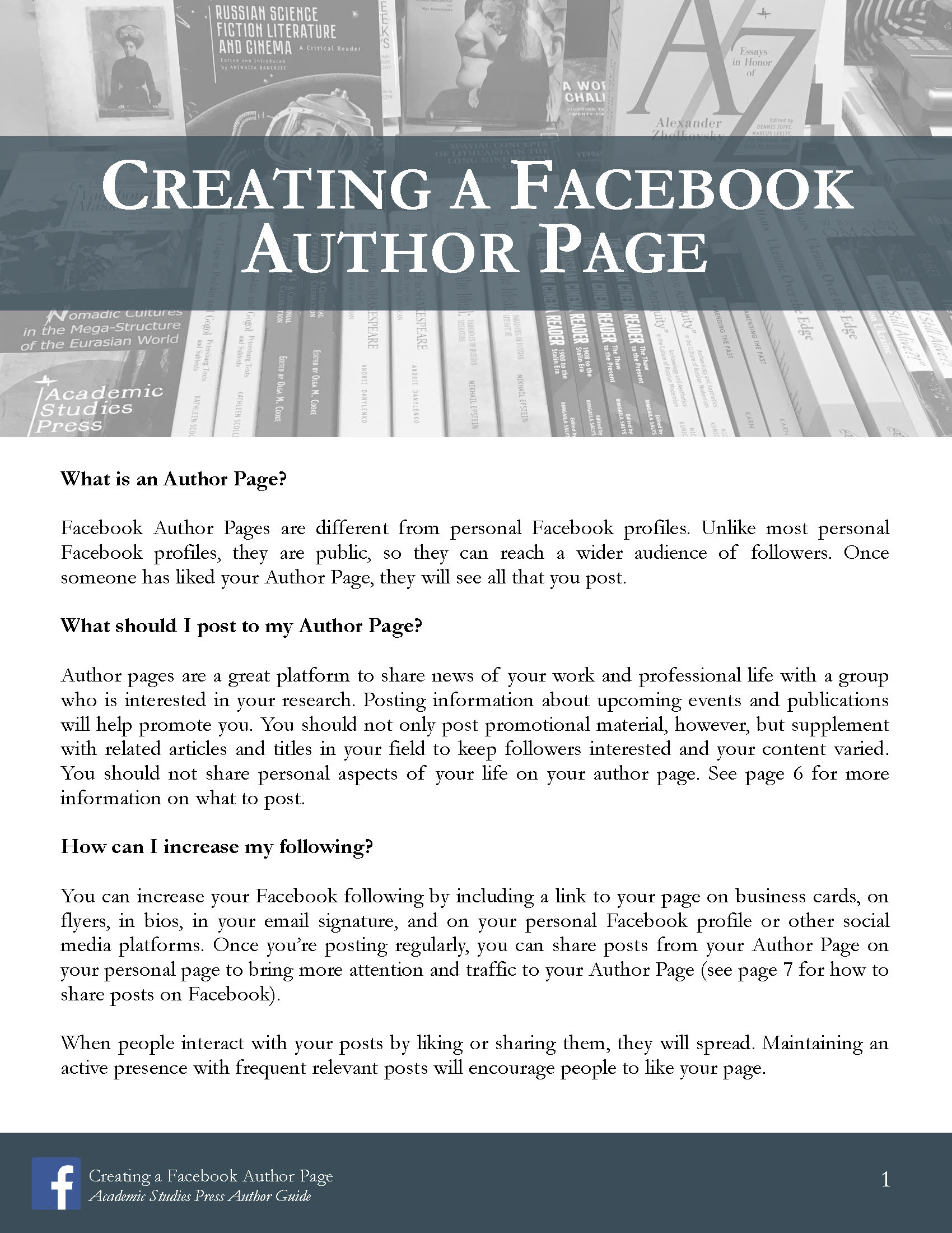 Author Guide: Creating a Facebook Author Page