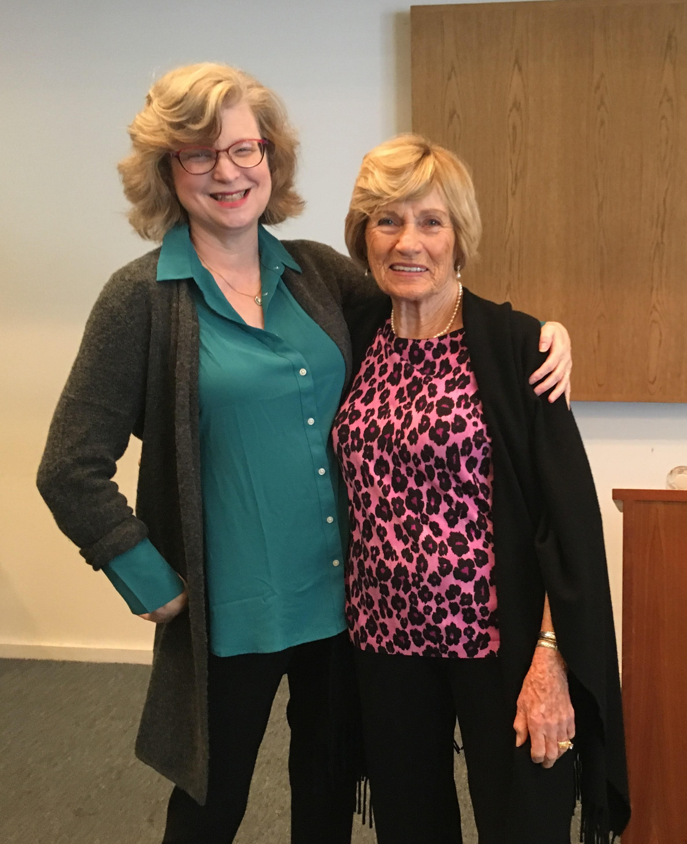 Beth Holmgren and Christine Stamper, reading in Newport Beach, California, March 10, 2018