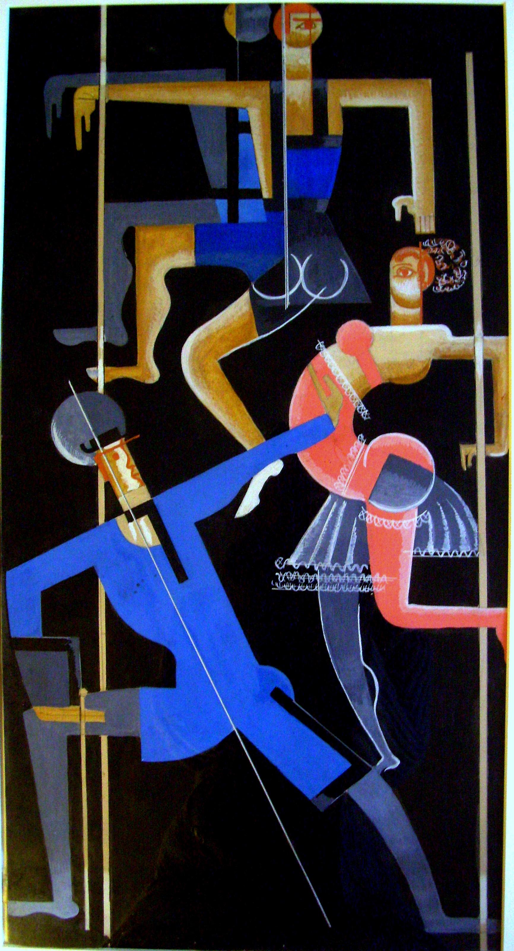 Vadym Meller.  Carnival , 1923.