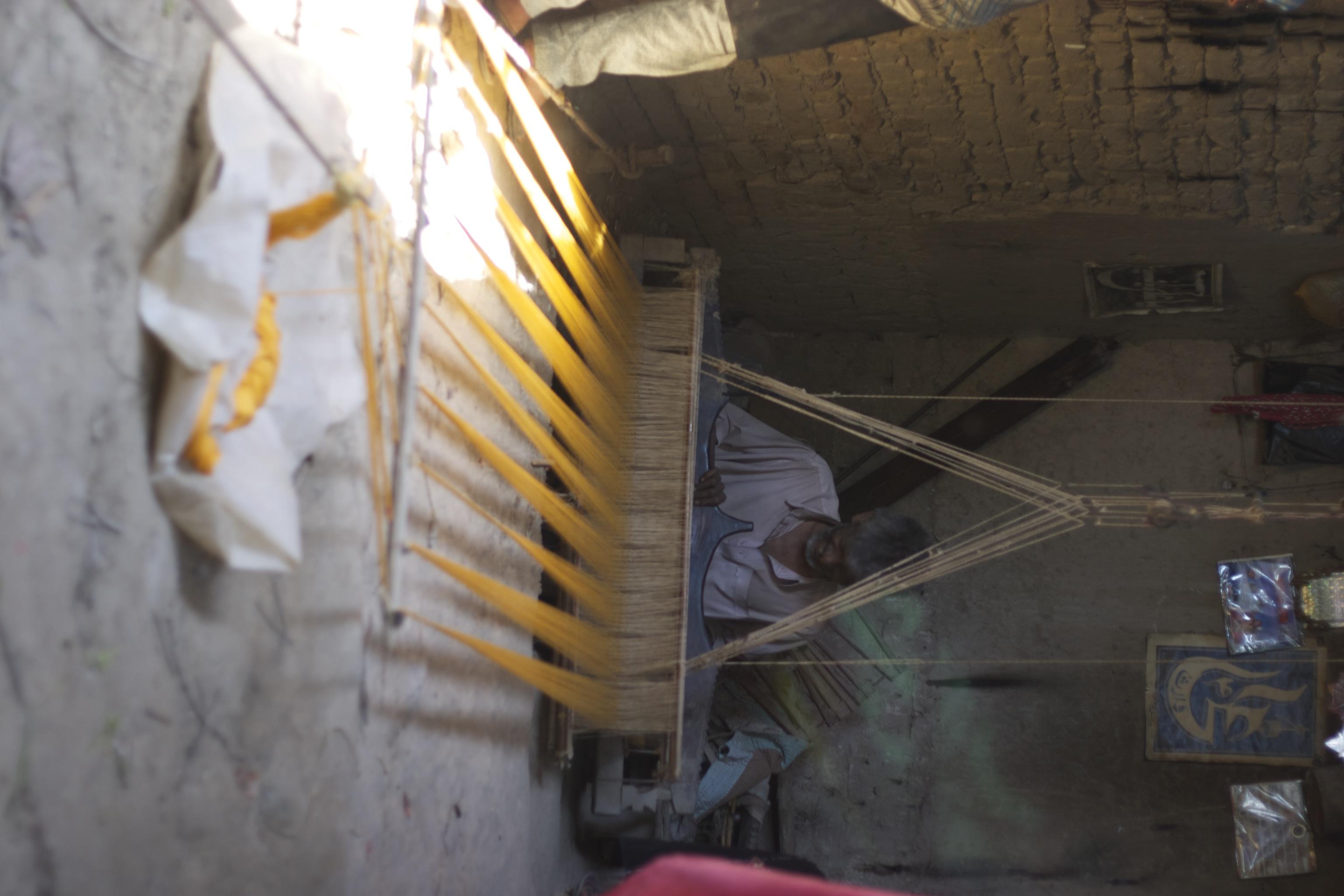 Lal Buksh at his loom