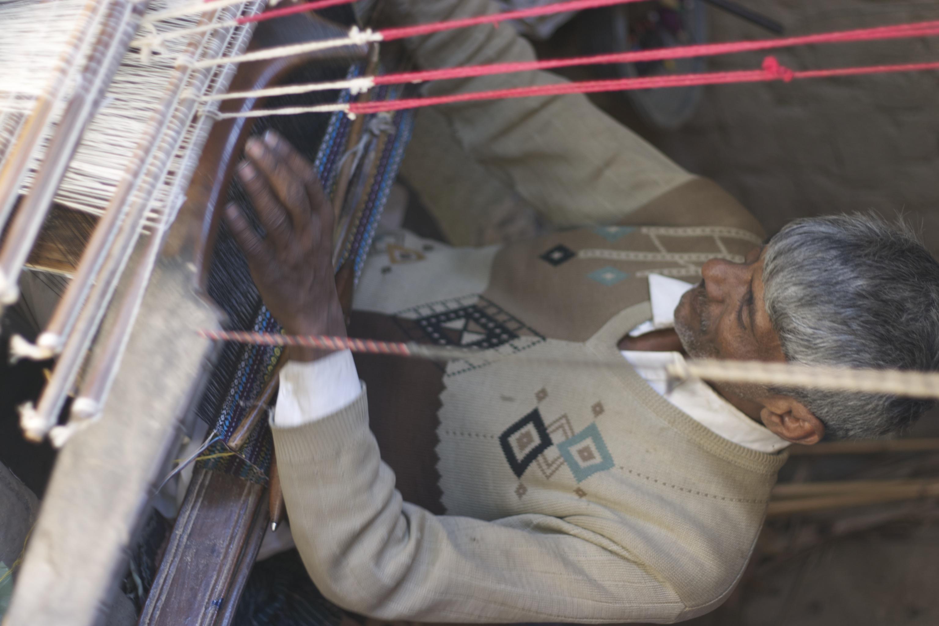 Master weaver Lal Buksh