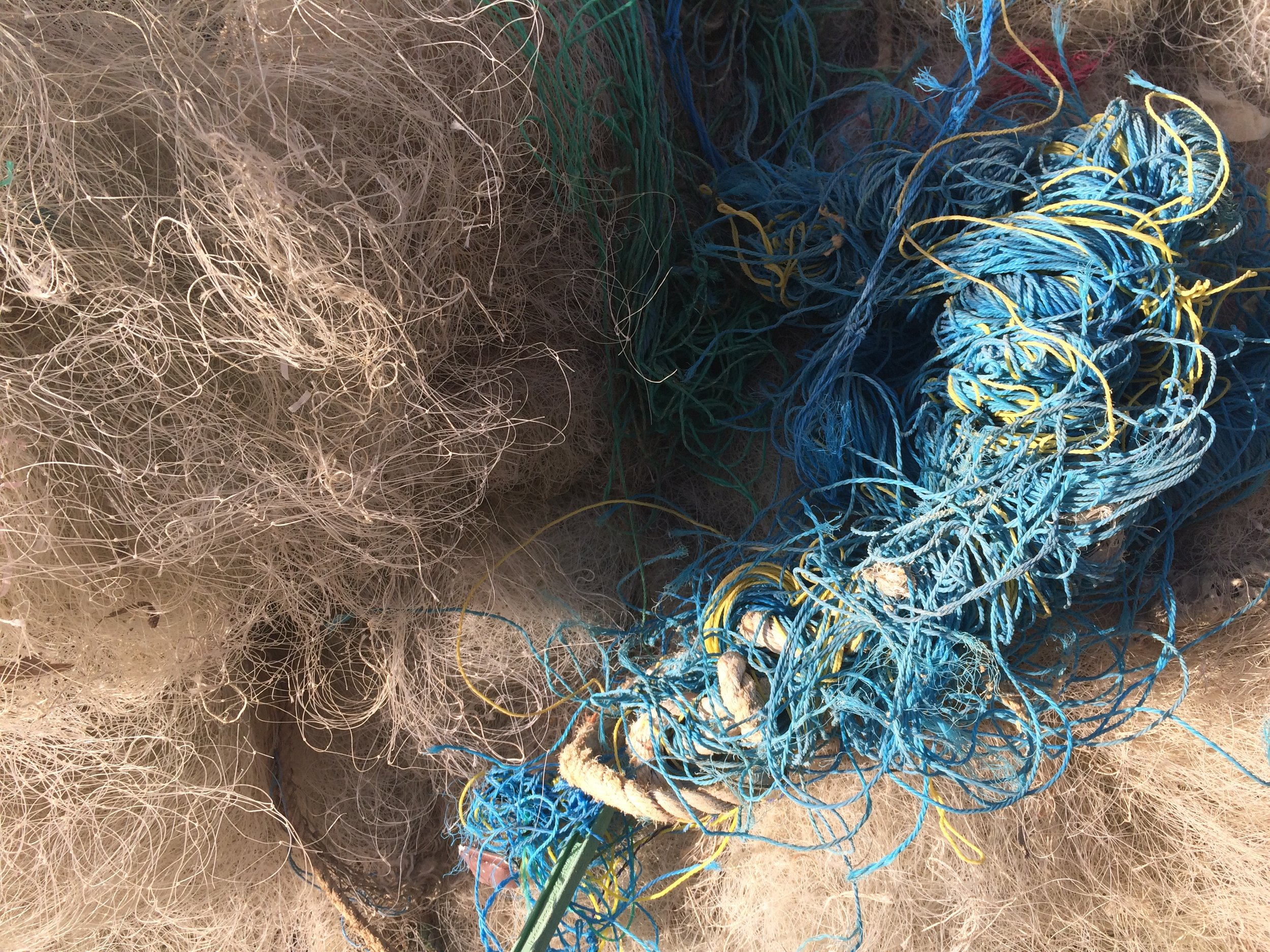 Monofilament, nylon and polyester fishing nets