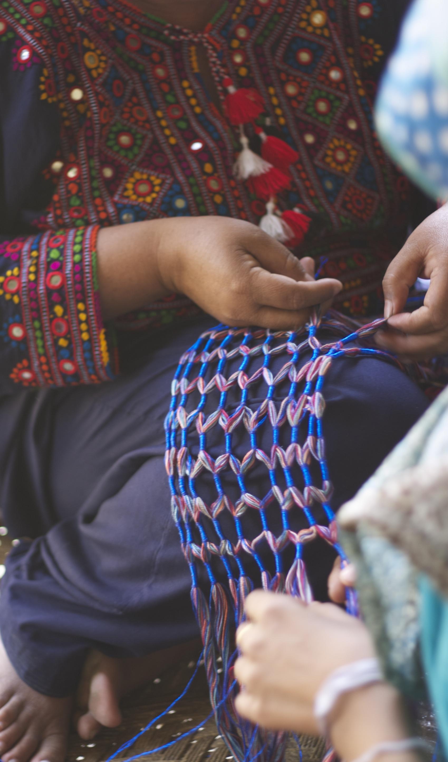 Making dori scarf blue.jpg
