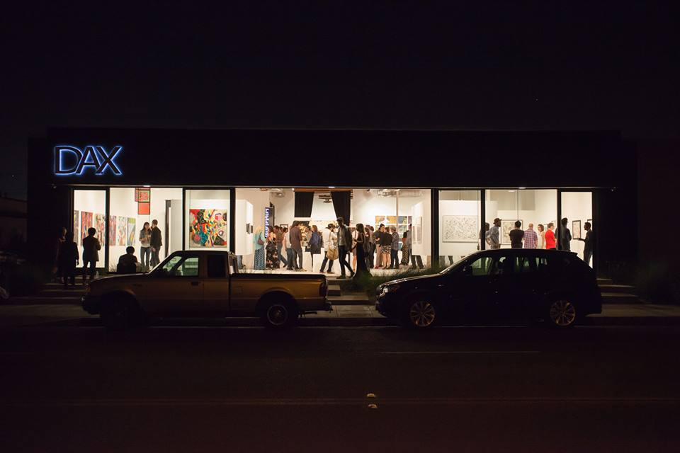 Great turn out with good people and friends. Thank you to all who support the art community and to those who believe that without art, there will be no expression of emotions and story telling. This photo was taken by Jin Kyu Ahn last night and it really sums up the gallery space and the scene. The show will be up for 2 months at DAX Gallery in Costa Mesa.
