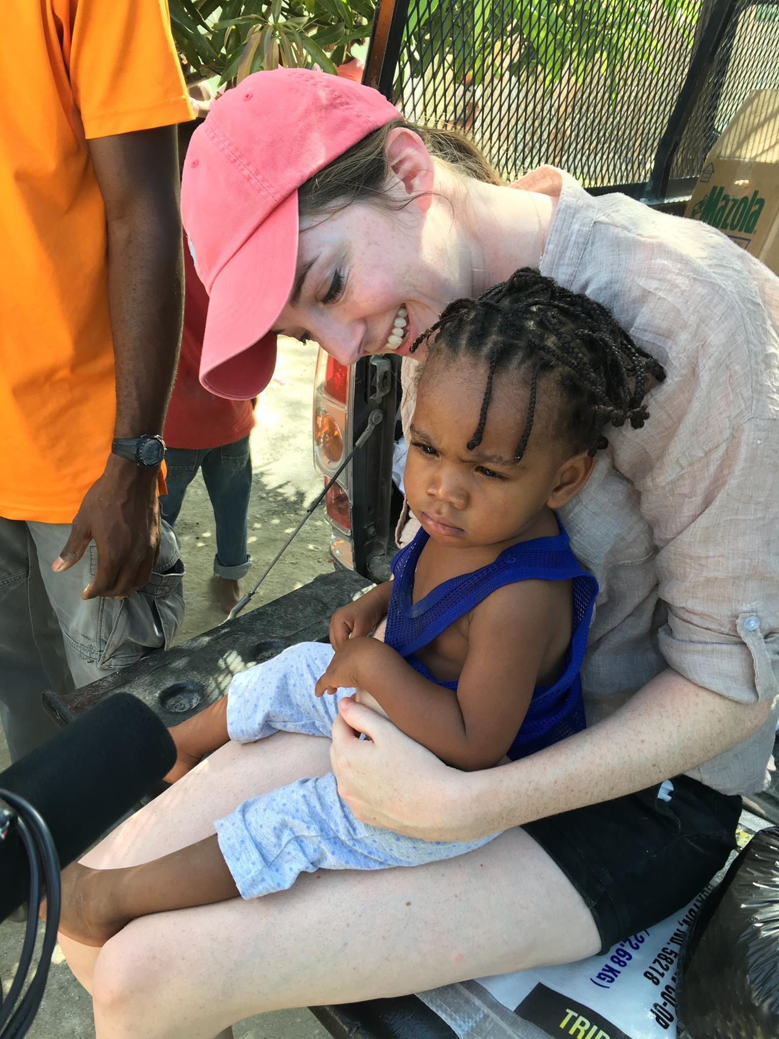 Rachael Burchett on a community visit