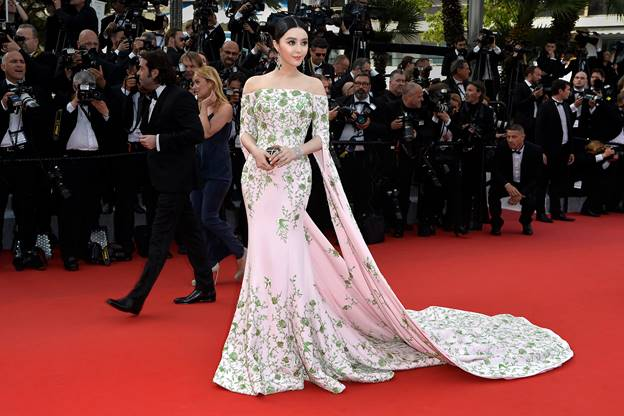 Chinese superstar Fan Bingbing wears a custom Ralph & Russo couture gown to the opening ceremony of the 68th Cannes Film Festival.