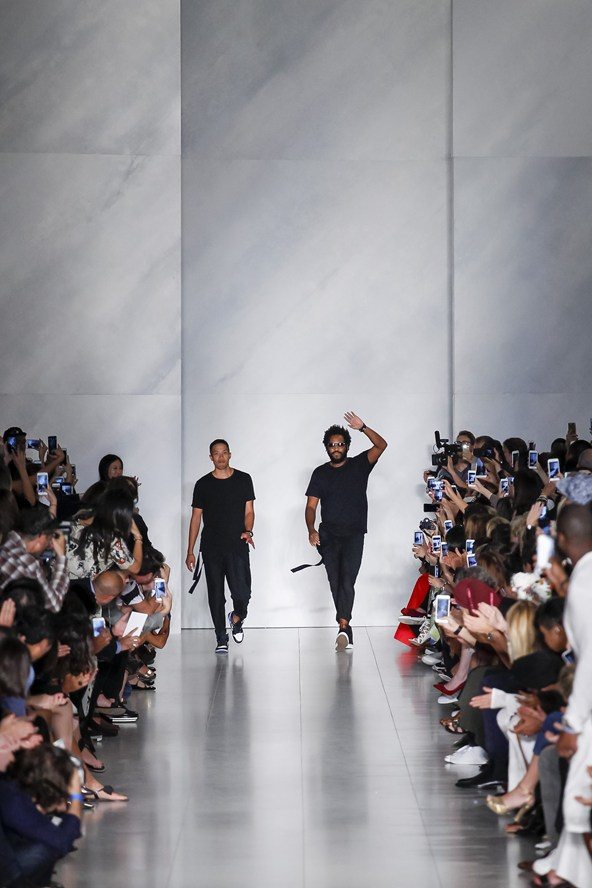 The designer's eponymous line is no longer and neither does she sit at the helm of DKNY. That job fell to Dao-Yi Chow and Maxwell Osborne, the Public School label-appointed designers who took on the role in April. Today, it was over to them, Karan sitting in the audience to watch on as the baton was officially passed and a new chapter began.