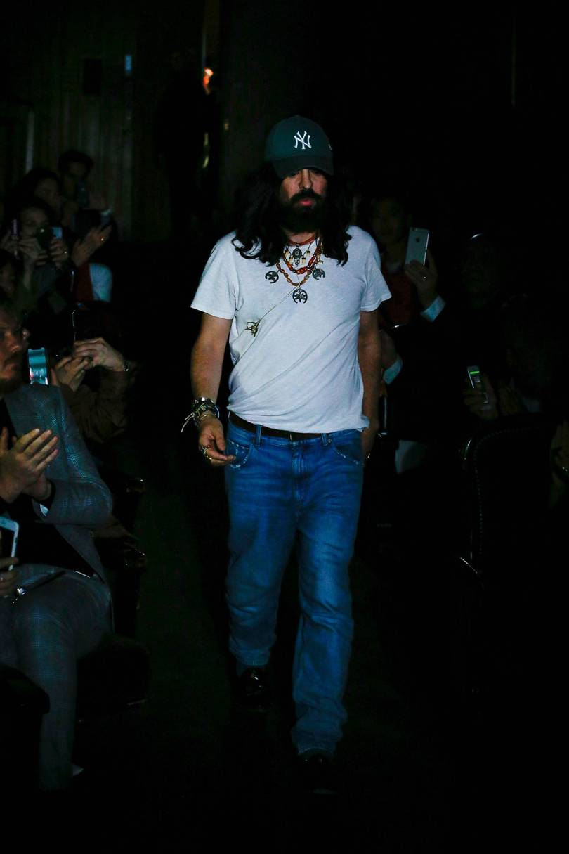 "GUCCI SPRING SUMMER 2019 - Gucci moved its presentation to the first evening of the Paris shows to close a French trilogy that started with a pre-fall collection shot in Paris locations significant to 1968 and took out the Alyscamps cemetery in Arles for its cruise show. Alessandro Michele's choice of venue, the fabled Le Palace nightclub and theatre in Montmartre – so gritty and dusty Gucci had to change the carpet – was a perfectly suitable choice for his underground elves. But it was the noticeable progress of Michele's plentiful shtick and his bold styling moves that made this collection more compelling than his usual theatre.It was in homage to Leo and Perla, who didn't just have the best cat names ever but set Italian experimental theatre on fire with their provocative takes on Shakespeare in the 1960s. Michele's typically indecipherable show notes came with much ado about Leo de Berardinis and Perla Peragallo, but their impact on the collection seemed to be rooted in the confrontational, the alluring and the highly sexualised. Those tendencies were an unexpected and great move on Michele's part; more of that, please, sir. ""I realised something when I was going back to my room,"" he said after the curtain had closed on his theatre and bows were taken."