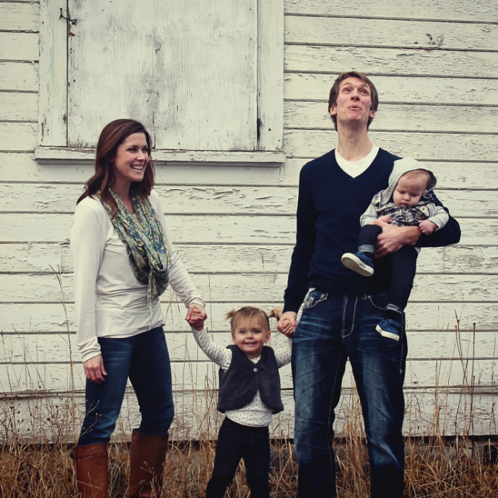 typical Blackburn family picture- but Harper is smiling, so that's a win