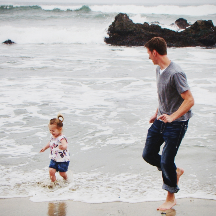 Is there a better place than the ocean to teach your babies about bravery?