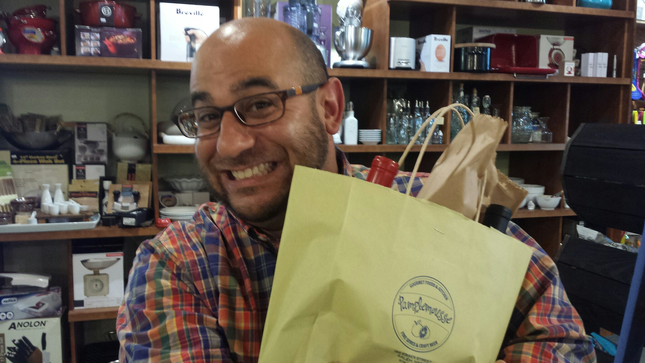 Rob was very excited to pick up his first delivery of the Pamplemousse Wine Club!