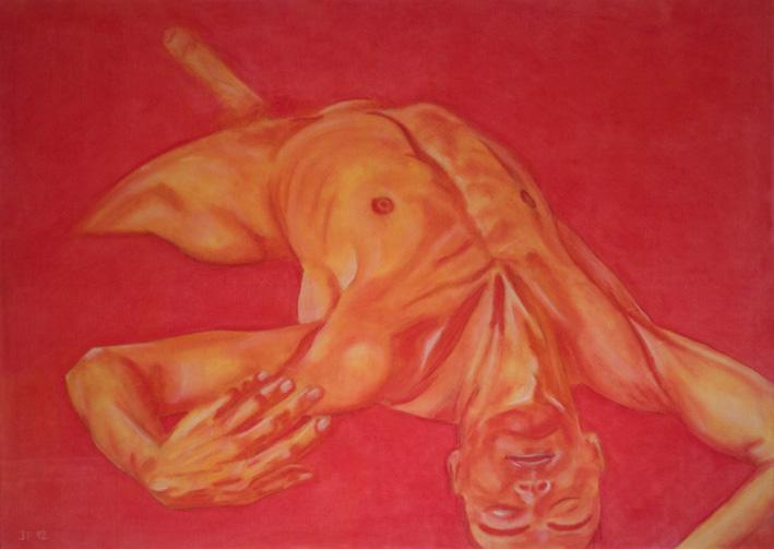 Reborn (2012) pastels on canvas, 100x140