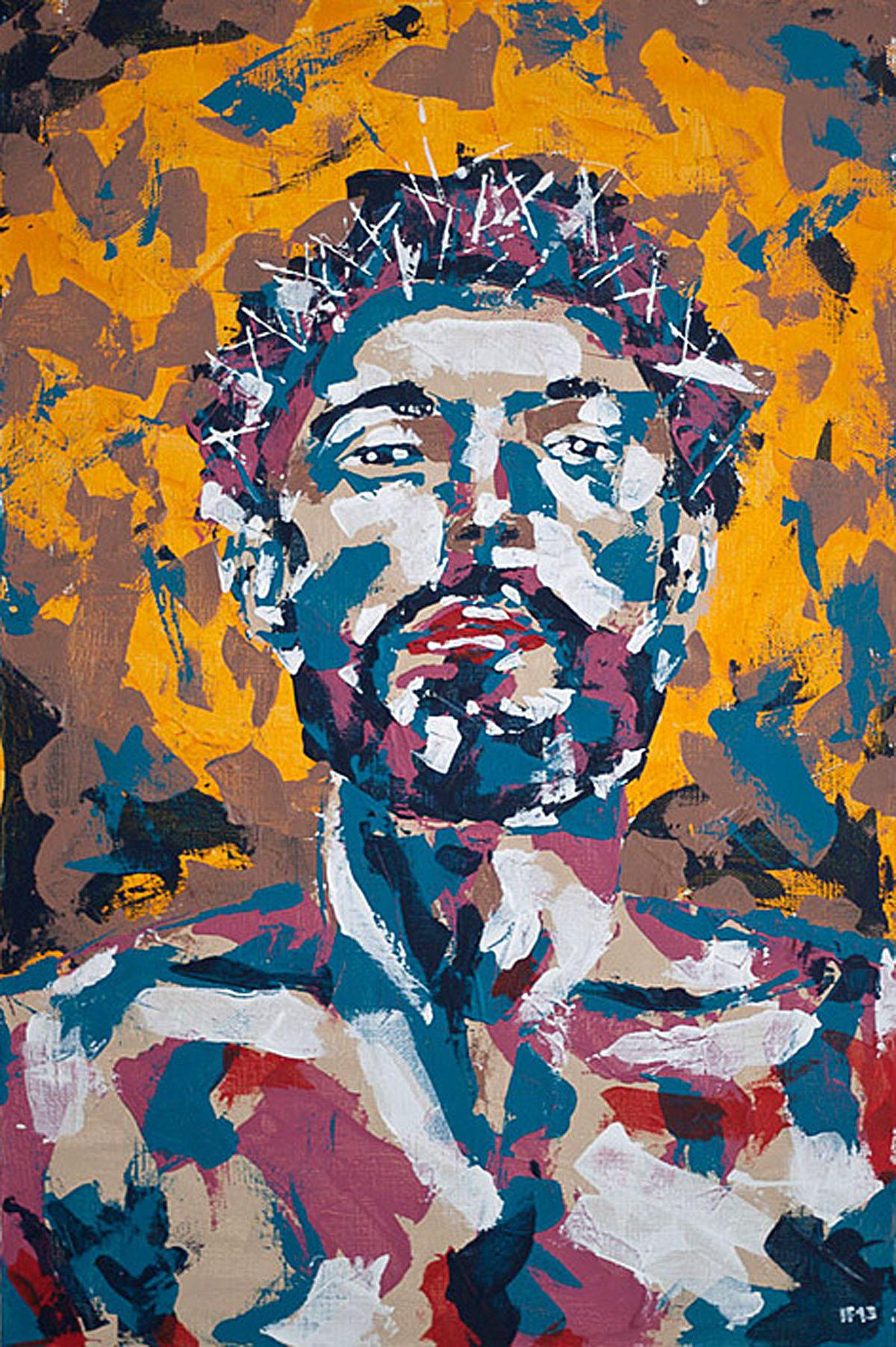33 (2013) acrylic on canvas, 90x60