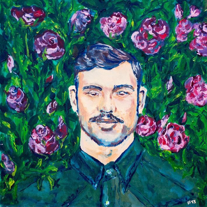 Arturo (2013) oil on canvas, 30x30