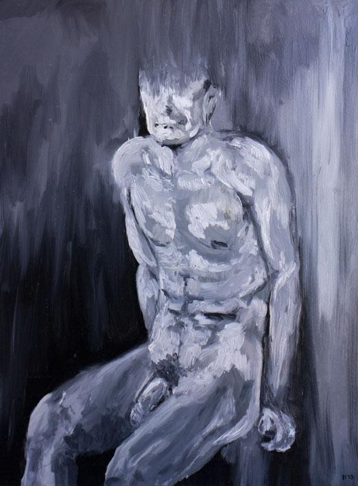 Monochrome Boy Portrait (2013) oil on canvas, 80x60