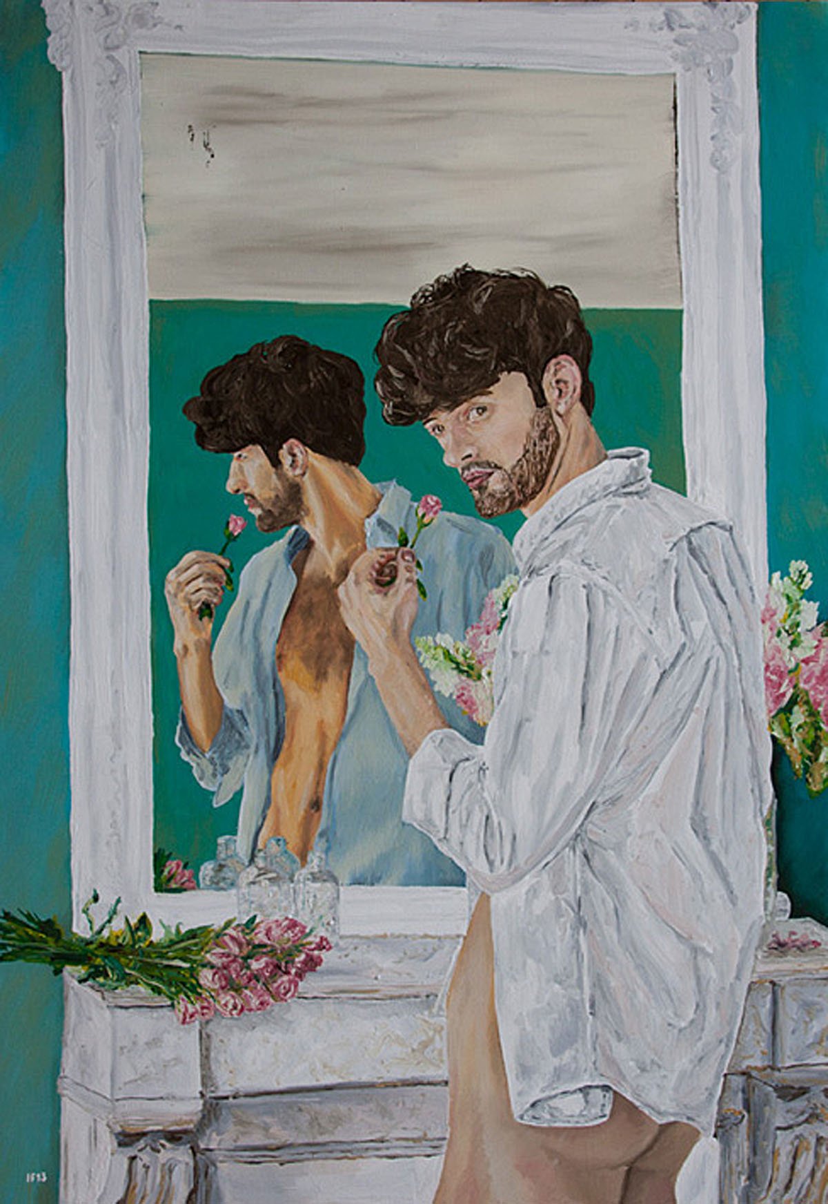 Mirror Portrait (2013) oil on canvas, 100x70