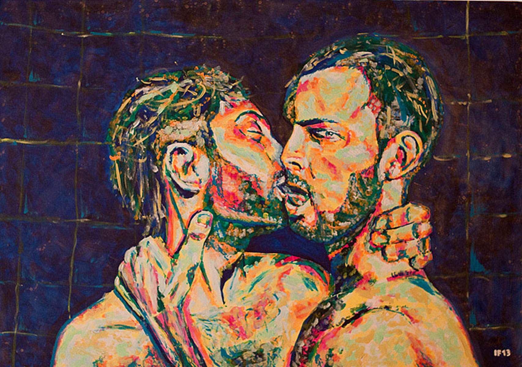 People Never Met (2013) acrylic on canvas, 70x100