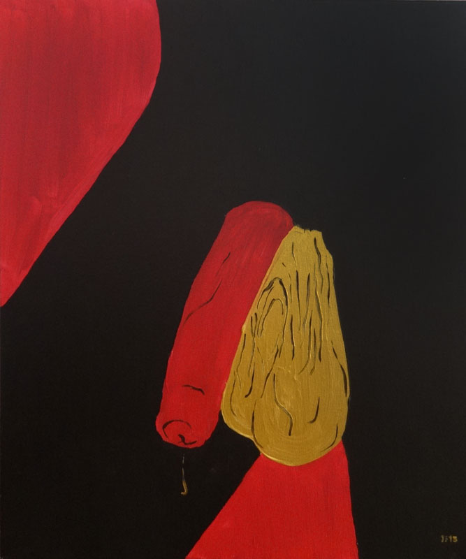 Gold nuts (2013) acrylic on canvas, 50x60