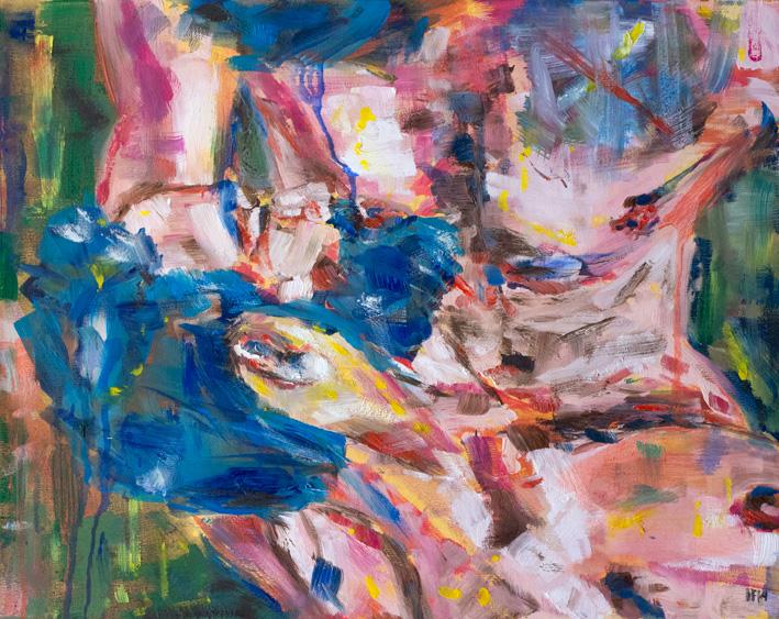 Feeding (2014) oil on canvas, 40x50
