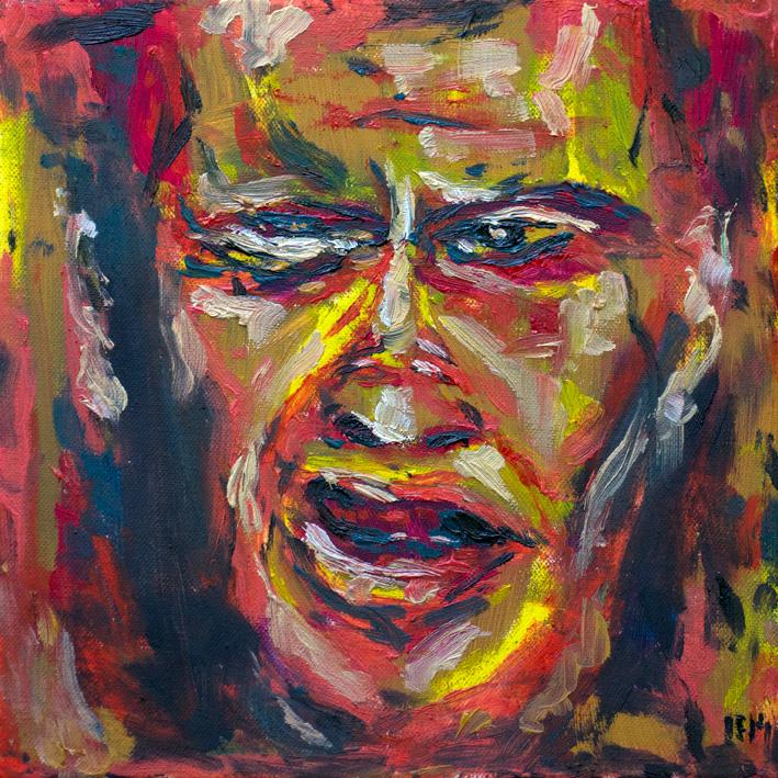 Breath III (2014) oil on canvas, 30x30