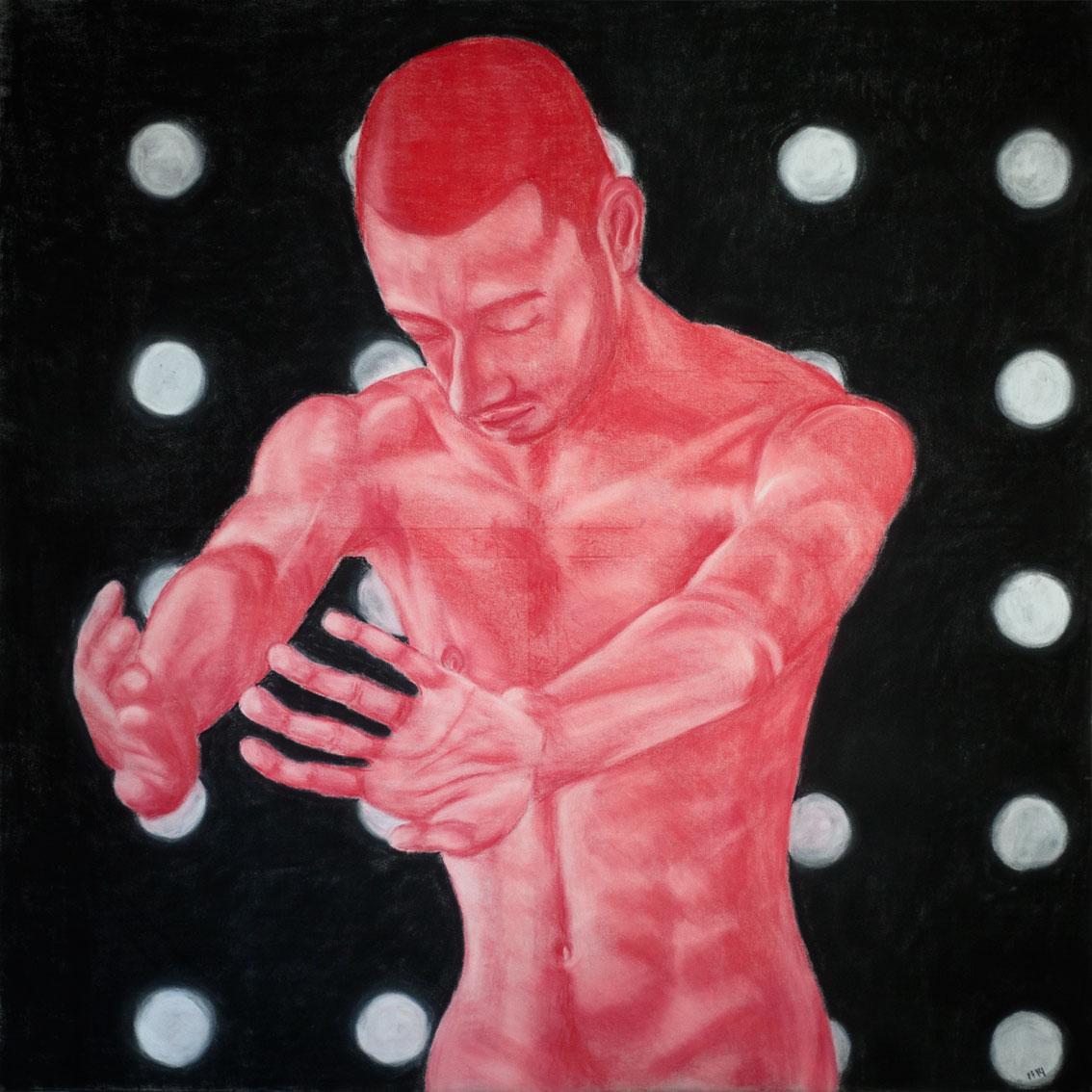 Leave Me Now (2014) pastel, 120x120