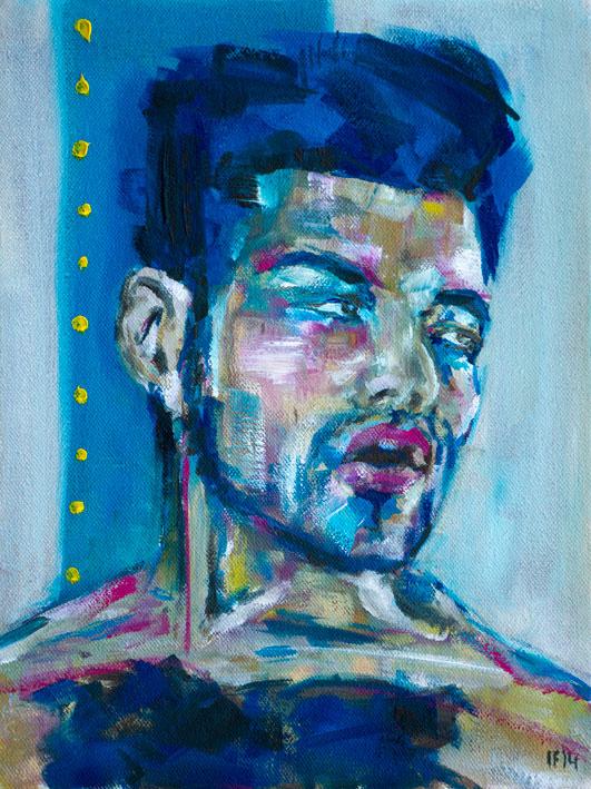 Memo (2014) oil on canvas, 40x30