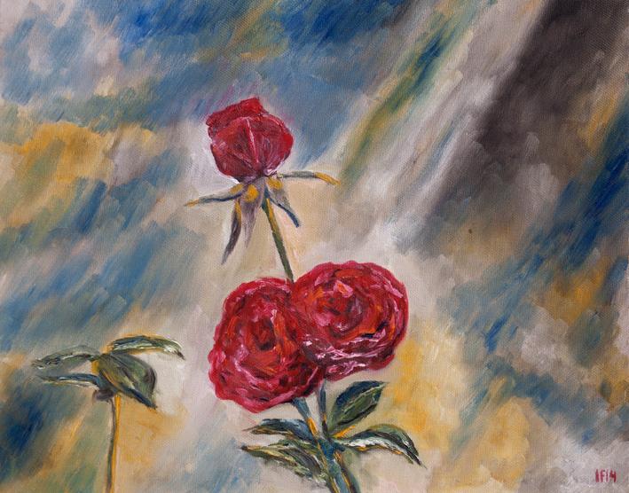 Triora Terrace (2014) oil on canvas, 40x50