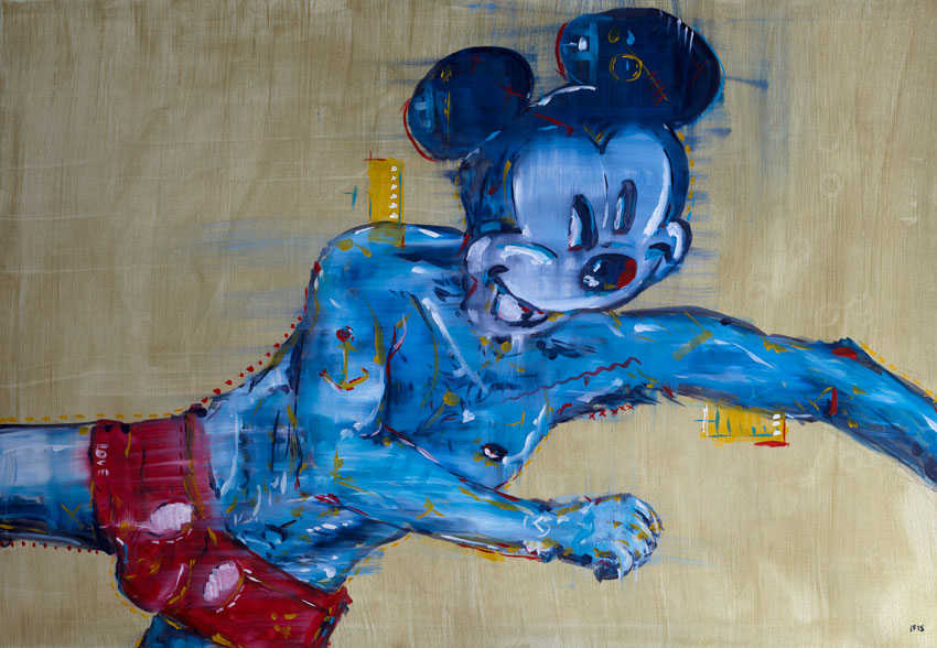 Berliner Mickey (2015), oil on canvas, 70x100