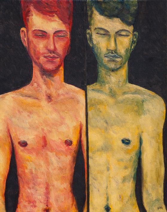 Shy (2014) oil on canvas, 50x40