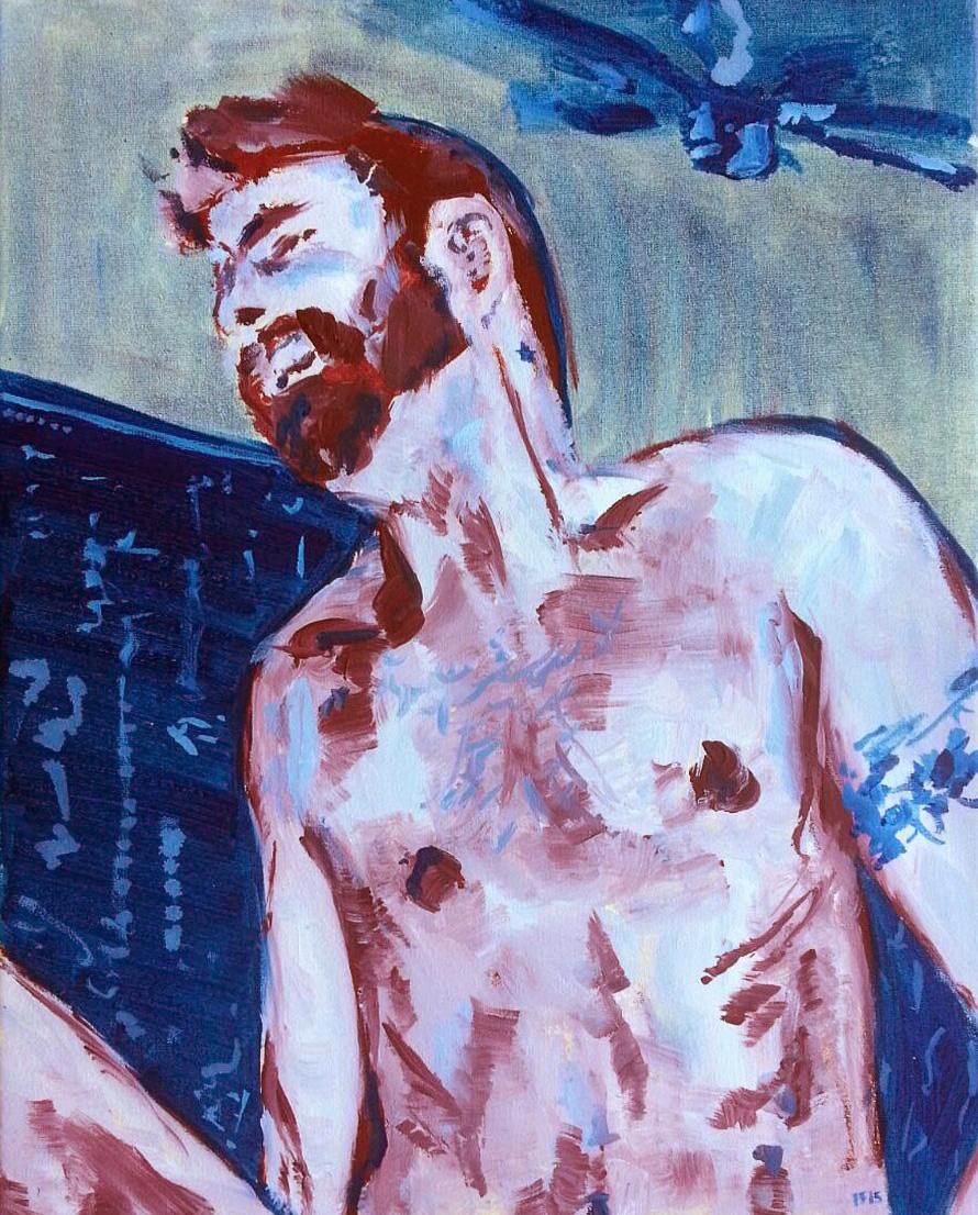 Good night (2015) oil on canvas, 45x35