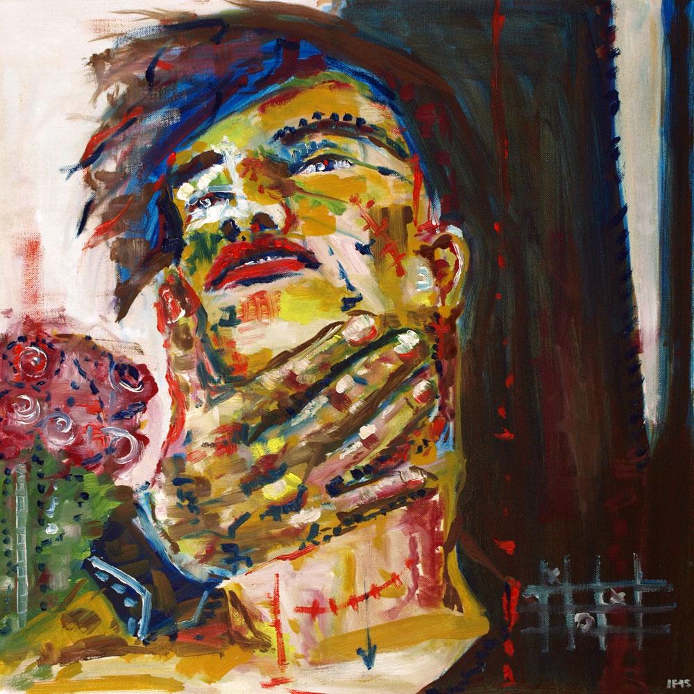 No Win  (2015) oil on canvas, 60x60