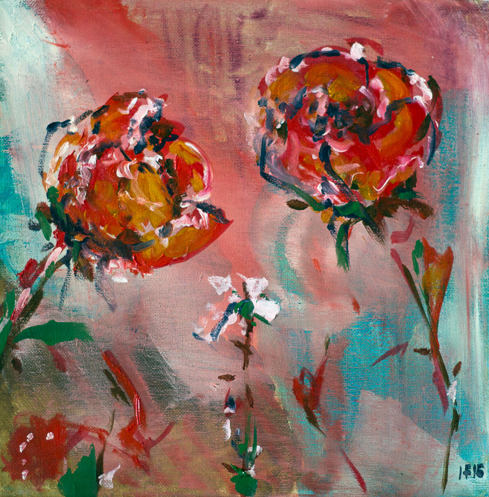 Sad Love Story (2015) oil on canvas, 30x30