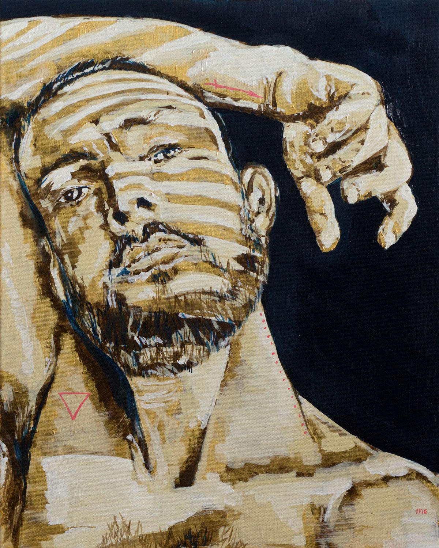 Stripes 1 (2016) oil on canvas, 50x40