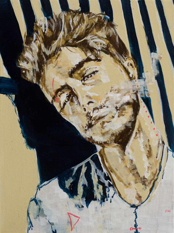 Stripes 4 (2016) oil on canvas, 40x30