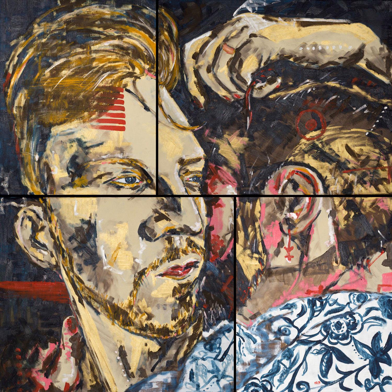 SayNo (2017) oil on canvas, 100x100