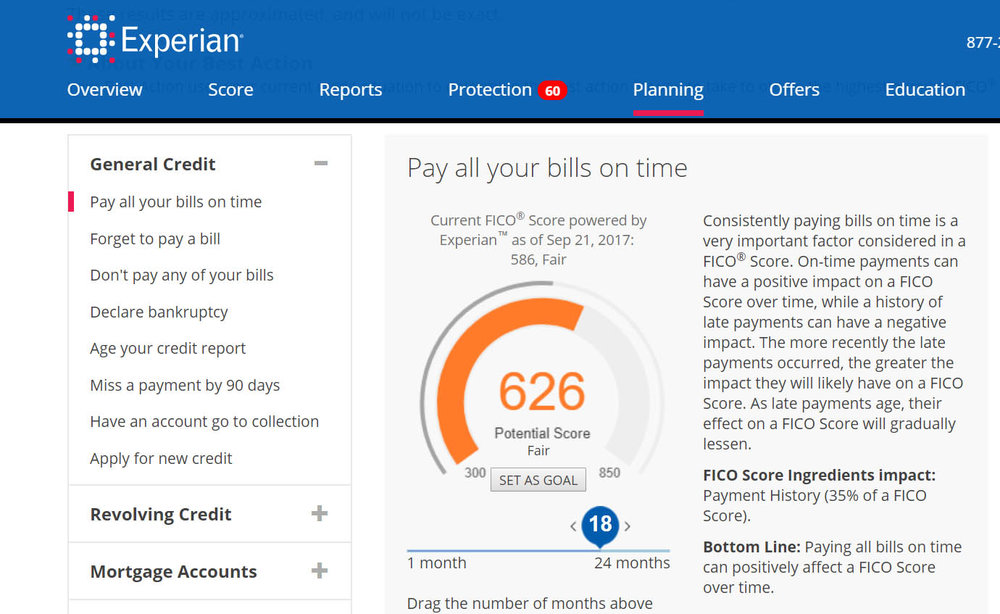 Experian.com and other credit services allow you to input hypothetical scenarios to see how they will likely affect your score.