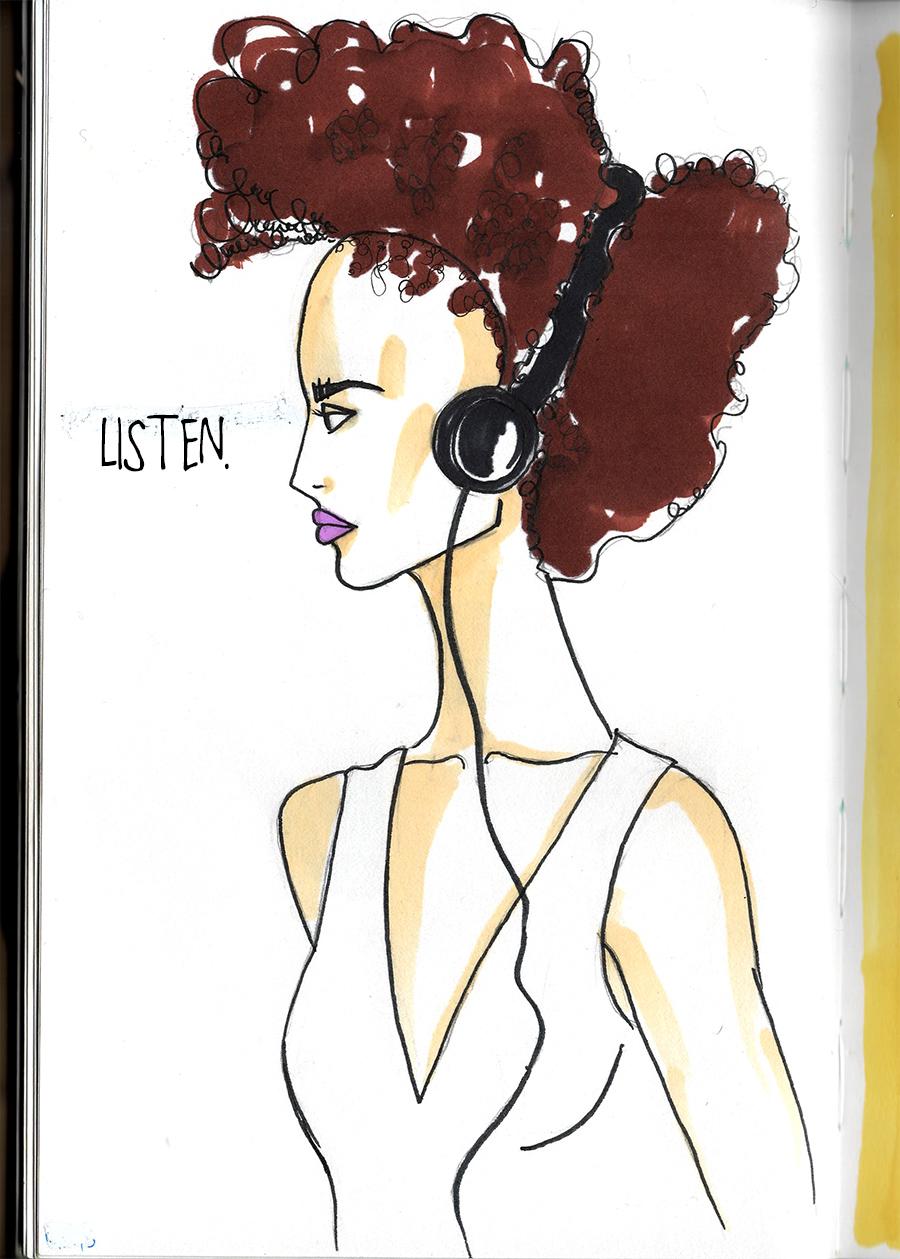 look pretty & listen