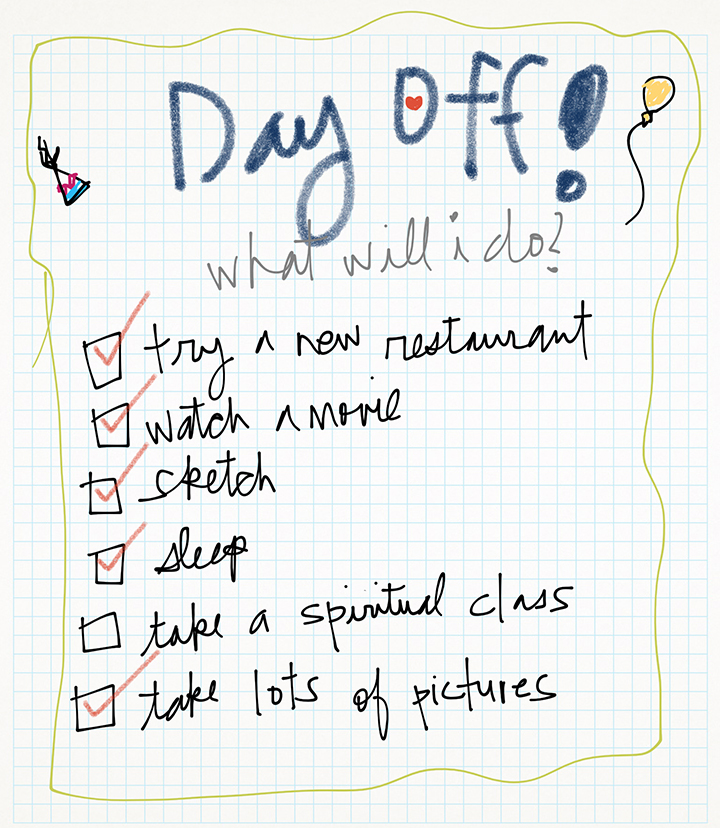 day off list checked