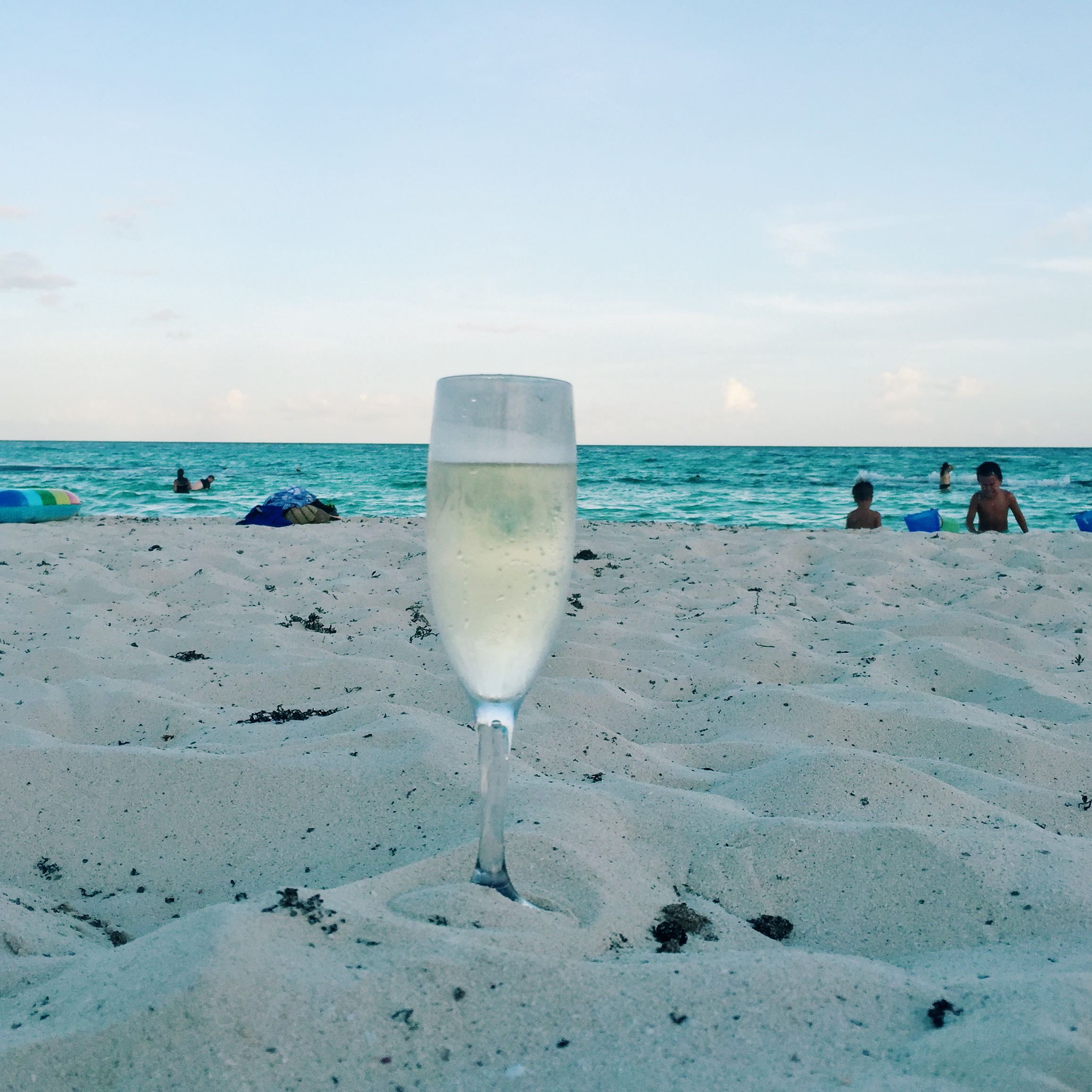 Wine on the beach and not getting in trouble for it. #Perfection