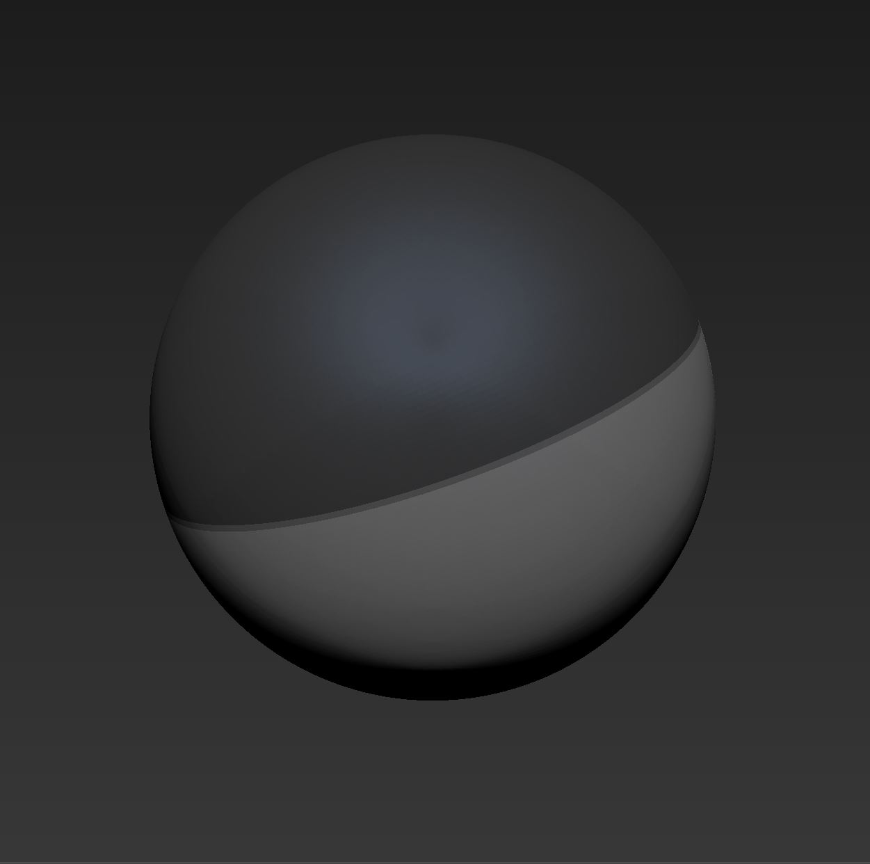 Masking a 3D sphere in Zbrush. Now let's find a Fibermesh preset for blades of grass.