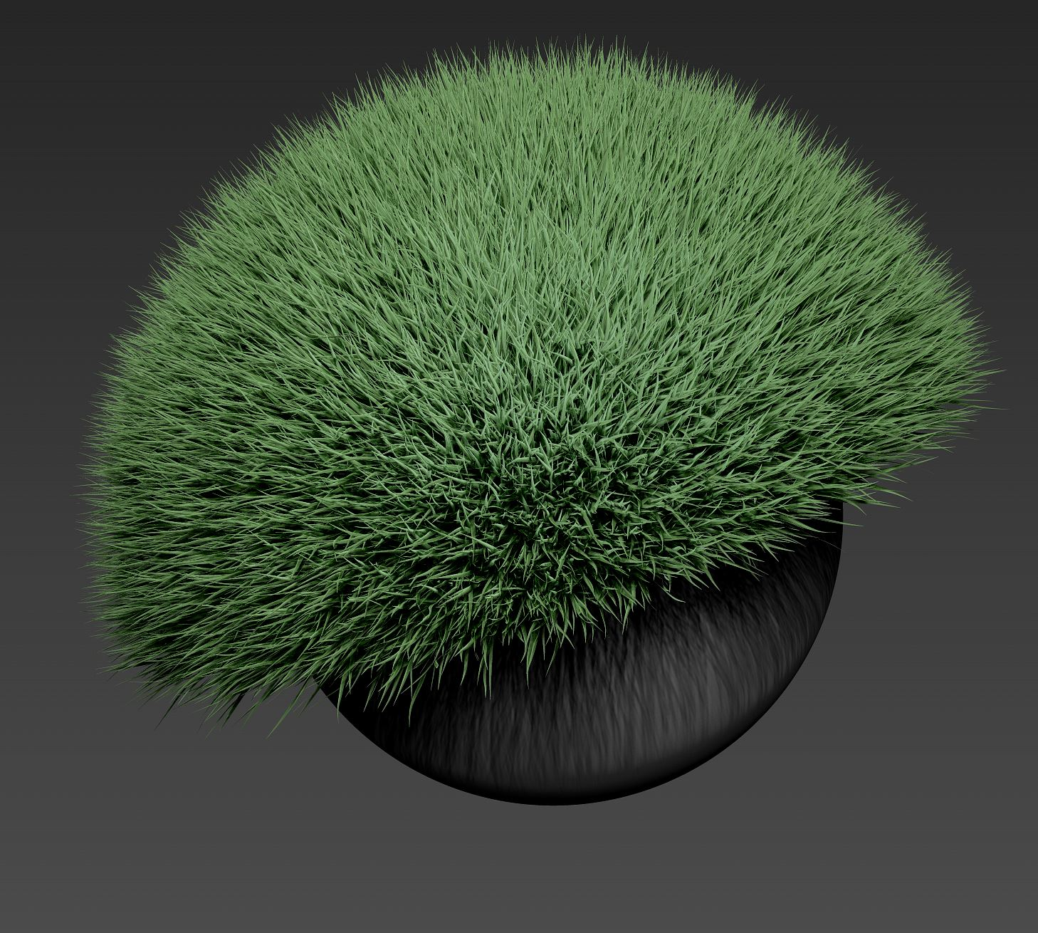 After a few seconds of tweaking max fibers and coverage...  We have grass. How cool is that?