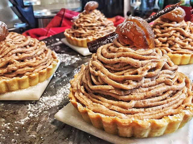 Tina Wu created these beautiful Mont Blancs! Mont Blancs is a French Dessert. You can make this chestnutty dessert yourself with Tina's recipe on our site :)⠀ #MontBlancDessert #Dessert #Recipe #TasteBuds #DessertRecipe #Chestnuts #FrenchDesserts #yum